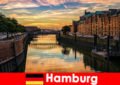 हैम्बर्ग जर्मनी में छोटे ब्रेक के लिए वास्तु सौंदर्य और मनोरंजन