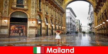 मिलान इटली में प्रसिद्ध ओपेरा हाउस और सिनेमाघरों के लिए यूरोपीय यात्रा