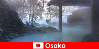 ओसाका जापान गर्म स्प्रिंग्स में स्नान स्पा मेहमानों प्रदान करता है